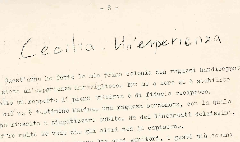 Cecilia: un'esperienza