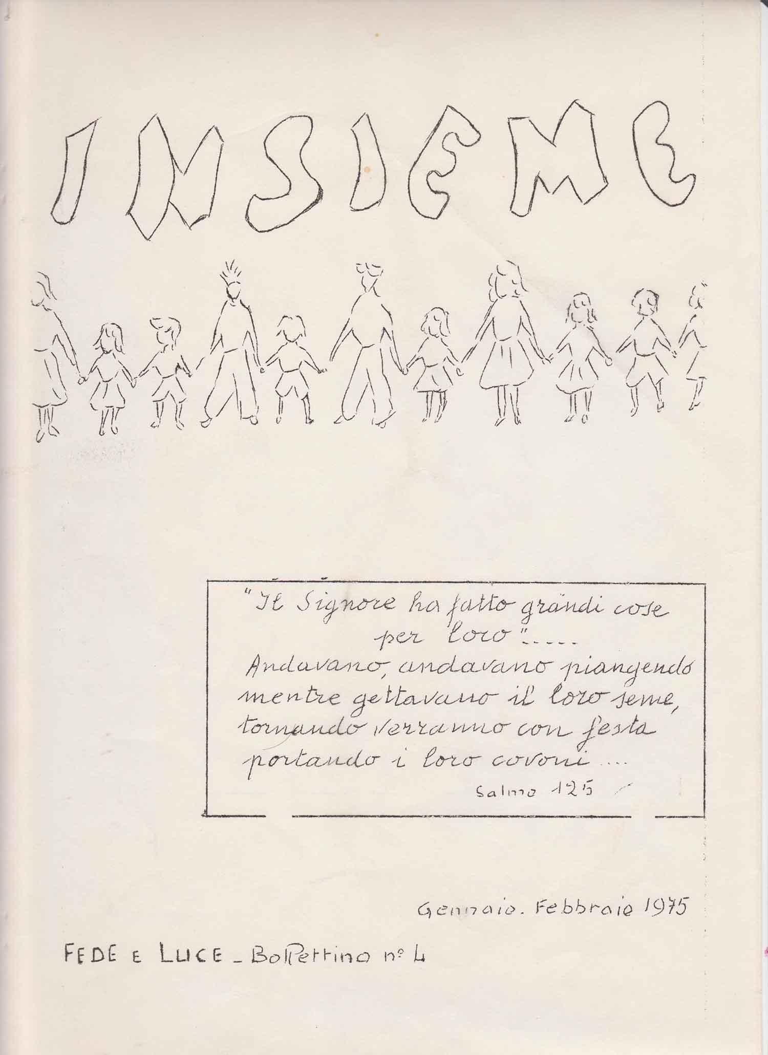 Copertina Insieme n. 4 - 1975 - Ombre e Luci