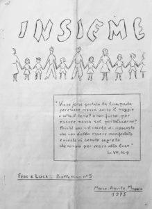 Copertina Insieme n. 5 - 1975 - Ombre e Luci
