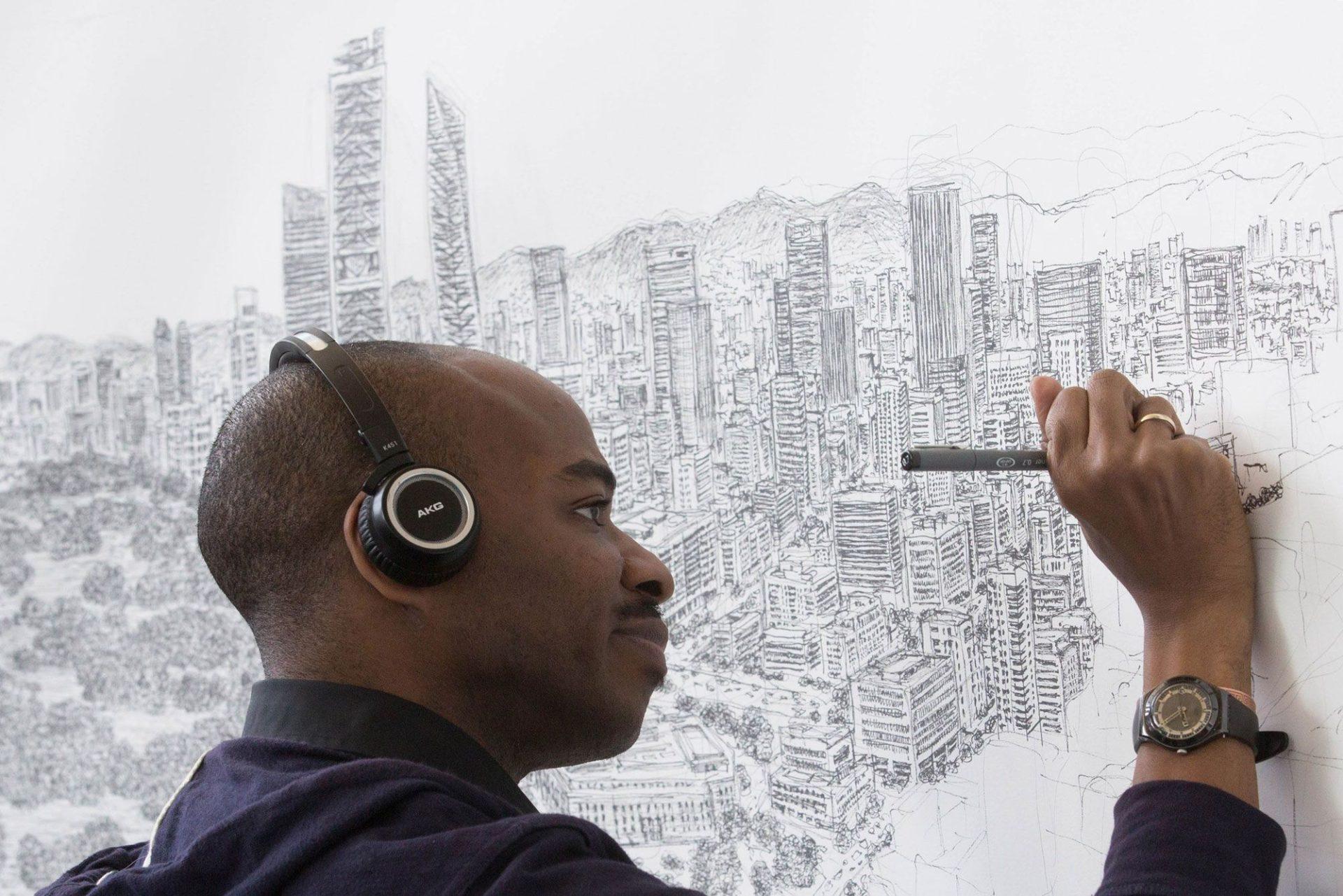 Stephen Wiltshire, l'artista autistico che riproduce a memoria lo skyline di New York