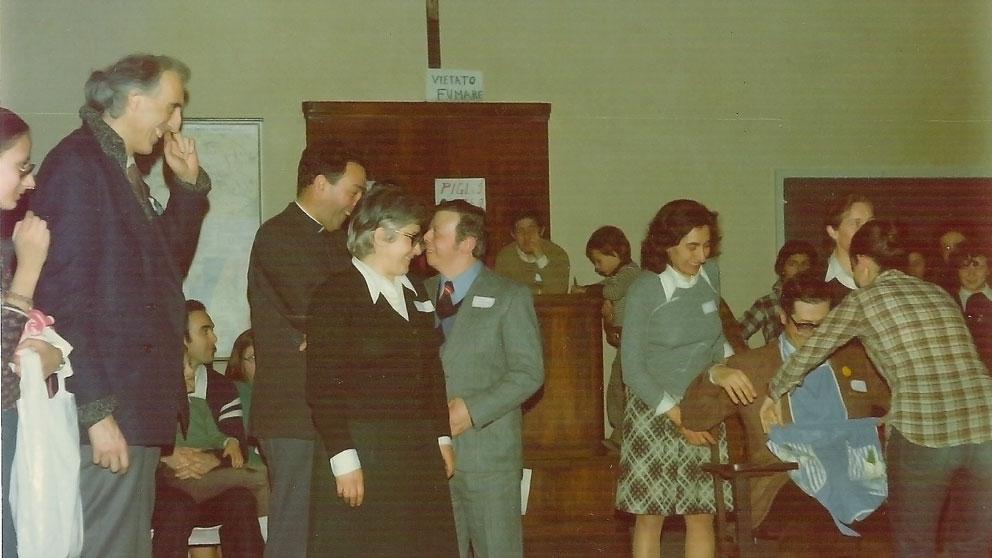 Prima festa di Fede e Luce 1975