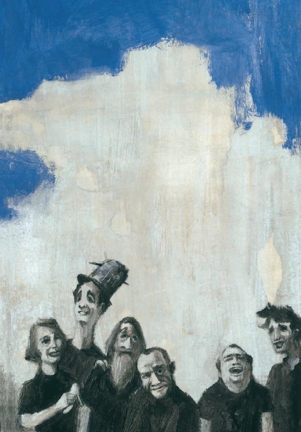 Particolare da una tavola di Maurizio A.C. Quarello in Il grande cavallo blu (Orecchio Acerbo 2012) di Irène Cohen-Janca