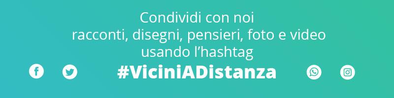 Vicini a distanza hashtag