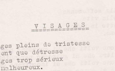 Poesie: Visages – Volti