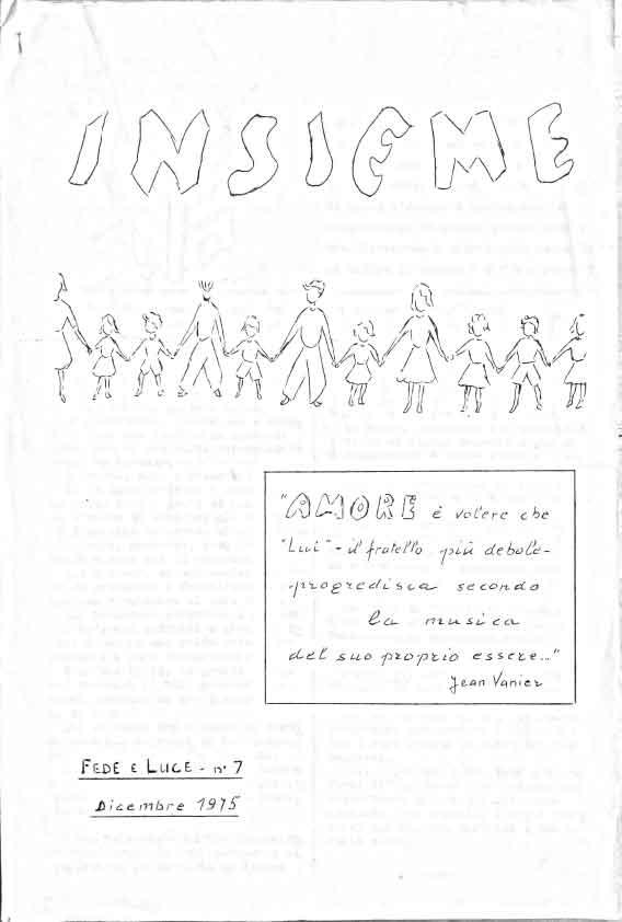 Insieme n. 7 – Bollettino Fede Luce 1975